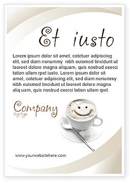 Food & Beverage: Cappuccino Cup Ad Template #03298