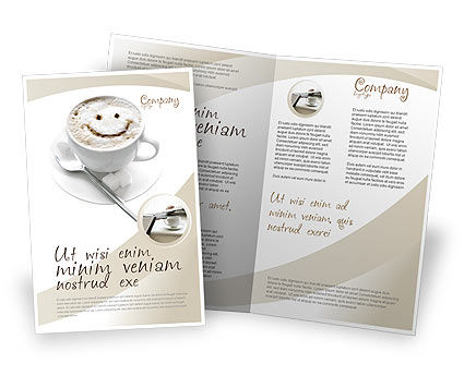 Cappuccino Cup Brochure Template, 03298, Food & Beverage — PoweredTemplate.com