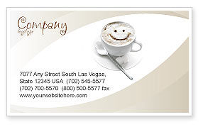 Food & Beverage: Cappuccino Cup Business Card Template #03298