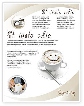 Cappuccino Cup Flyer Template, 03298, Food & Beverage — PoweredTemplate.com