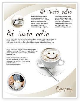 Food & Beverage: Modelo de Folheto - copo de cappuccino #03298