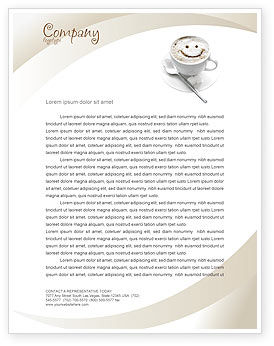 Cappuccino cup letterhead template layout for microsoft word adobe cappuccino cup letterhead template 03298 food beverage poweredtemplate spiritdancerdesigns Images