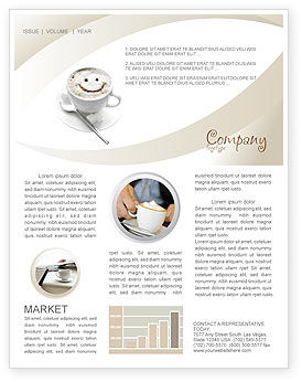 Cappuccino Cup Newsletter Template, 03298, Food & Beverage — PoweredTemplate.com