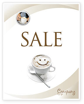 Food & Beverage: Cappuccino Cup Poster Template #03298