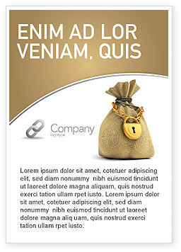 Financial/Accounting: Bag Of Wealth Ad Template #03303