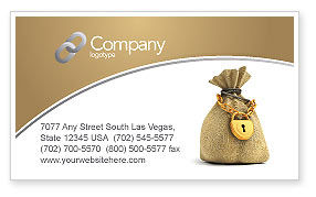 Financial/Accounting: Bag Of Wealth Business Card Template #03303