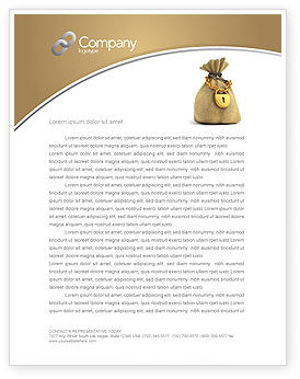 Financial/Accounting: Bag Of Wealth Letterhead Template #03303