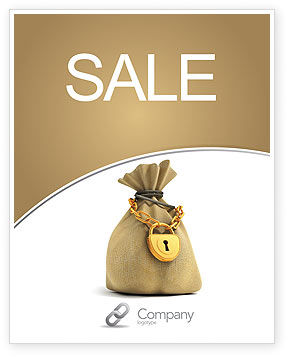 Bag Of Wealth Sale Poster Template, 03303, Financial/Accounting — PoweredTemplate.com