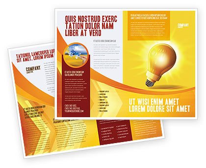 Bright Idea Brochure Template, 03307, Business Concepts — PoweredTemplate.com