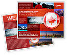 Flags/International: Canada Sign Brochure Template #03308