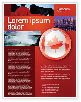 Canada Sign Flyer Template, 03308, Flags/International — PoweredTemplate.com
