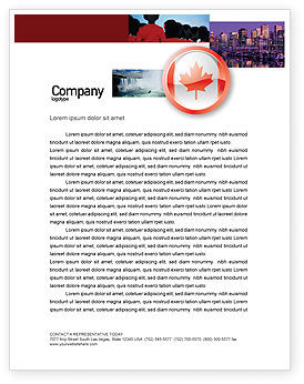 Canada Sign Letterhead Template, 03308, Flags/International — PoweredTemplate.com