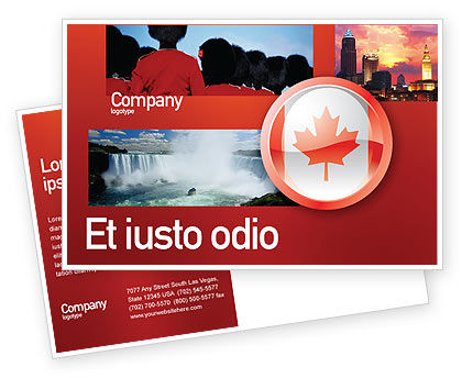 Canada Sign Postcard Template
