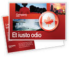 Flags/International: Canada Sign Postcard Template #03308