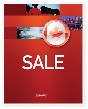 Canada Sign Sale Poster Template