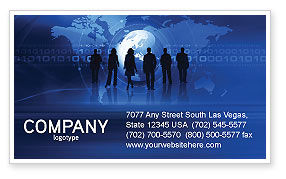People Silhouettes Business Card Template