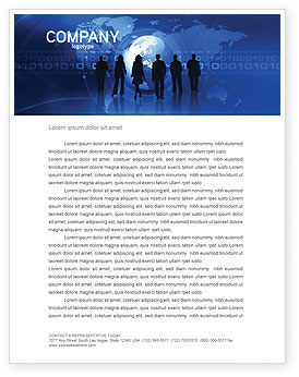 People Silhouettes Letterhead Template