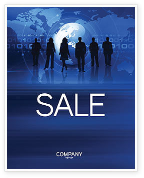People Silhouettes Sale Poster Template, 03312, Global — PoweredTemplate.com