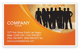 Consulting: Silhouettes Of People's Business Card Template #03317