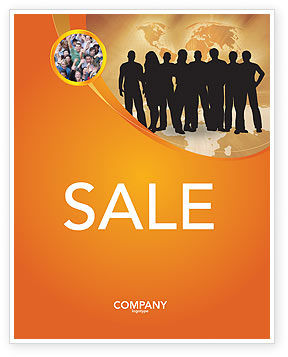 Silhouettes Of People's Sale Poster Template