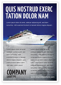 Sea Liner Ad Template, 03319, Cars/Transportation — PoweredTemplate.com