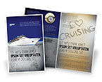 Cars/Transportation: Sea Liner Brochure Template #03319