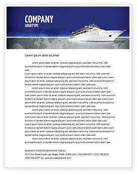 Sea Liner Letterhead Template, 03319, Cars/Transportation — PoweredTemplate.com