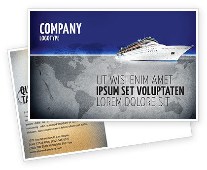 Sea Liner Postcard Template, 03319, Cars/Transportation — PoweredTemplate.com