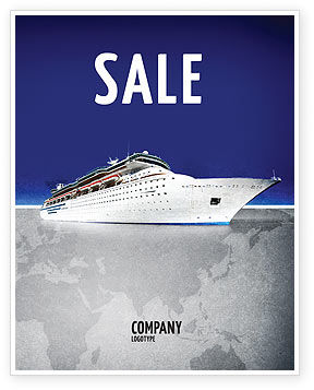 Cars/Transportation: Sea Liner Sale Poster Template #03319
