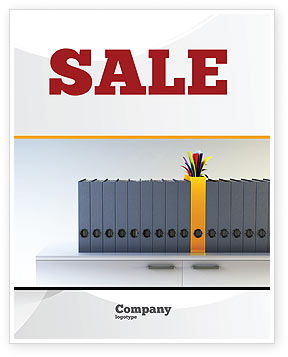 Business Concepts: Document Filing Sale Poster Template #03322