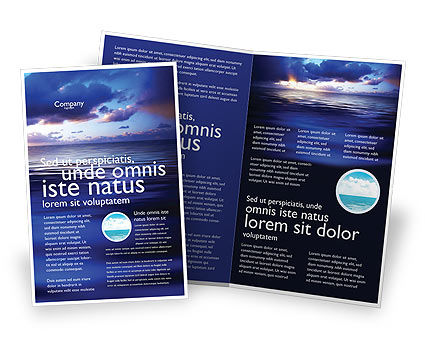 Nature & Environment: Meerwasser Broschüren Vorlage #03324