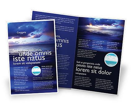 Sea Water Brochure Template, 03324, Nature & Environment — PoweredTemplate.com