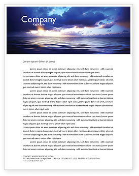 Nature & Environment: Sea Water Letterhead Template #03324