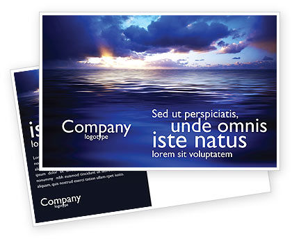 Nature & Environment: Sea Water Postcard Template #03324