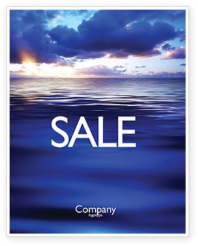 Sea Water Sale Poster Template, 03324, Nature & Environment — PoweredTemplate.com