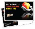 Business Concepts: リンゴの反射 - はがきテンプレート #03326
