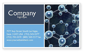 Molecular Structure Business Card Template, 03327, Technology, Science & Computers — PoweredTemplate.com