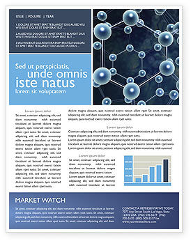 Technology, Science & Computers: Molecular Structure Newsletter Template #03327