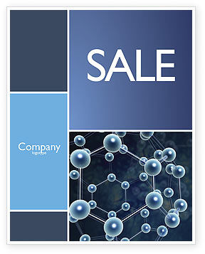 Molecular Structure Sale Poster Template, 03327, Technology, Science & Computers — PoweredTemplate.com