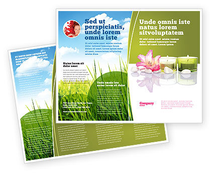 SPA Treatment Brochure Template, 03328, Careers/Industry — PoweredTemplate.com