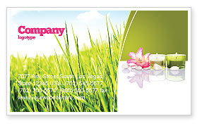 Careers/Industry: SPA Treatment Business Card Template #03328