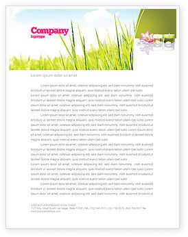 SPA Treatment Letterhead Template, 03328, Careers/Industry — PoweredTemplate.com