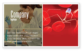 Medical: Nanotechnology In Medicine Business Card Template #03329