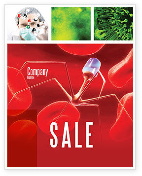 Nanotechnology In Medicine Sale Poster Template, 03329, Medical — PoweredTemplate.com