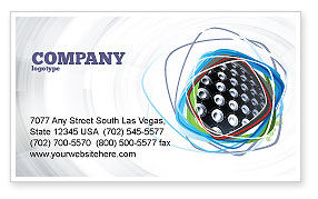 Art & Entertainment: Loud Speakers Business Card Template #03332