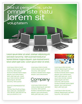 Technology, Science & Computers: Templat Flyer Jaringan Bisnis #03336