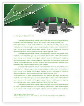 Technology, Science & Computers: Business Network Letterhead Template #03336