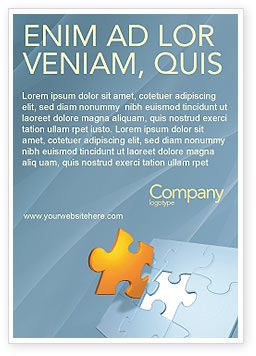 Business Concepts: Stuk Van De Puzzel Advertentie Template #03338