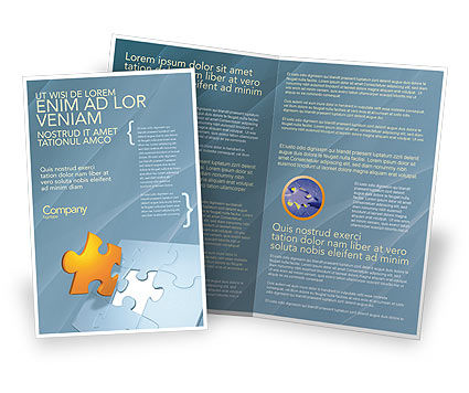 Business Concepts: Piece of Puzzle Brochure Template #03338