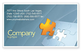 Piece of Puzzle Business Card Template, 03338, Business Concepts — PoweredTemplate.com
